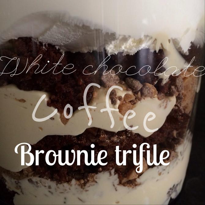 White Chocolate Coffee Brownie Trifile